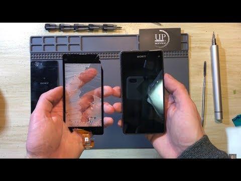 "Ремонт Sony Z1 Compact D5503 замена сенсора, стекла, дисплея, экрана, разборка СЦ ""UPservice"" г.Киев"
