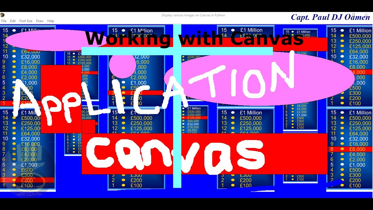 How to Create a Complete Application using Canvas in Python - Full Tutorial