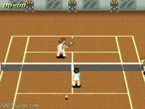 Super Tennis - SNES Gameplay