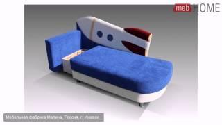 Детский диван Ракета(Цена: 10300 руб. Тип трансформации: еврокнижка. Спальное место, см: 74 × 190. *На картинке изображен подлокотник..., 2014-06-16T14:46:53.000Z)