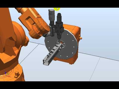 Golden Vtop Fiber Robot Arm 3D Laser Cutting---operation software demonstration