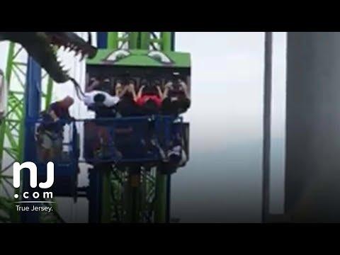 Hydrus roller coaster gets stuck at Seaside Heights Boardwalk