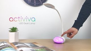 activiva LED desk lamp with ambient lighting base (ACA-LED-Q10)