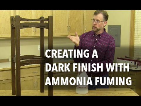 How to Create a Dark Wood Finish Using Ammonia Fuming