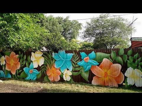 Backyard Murals Fence Murals Youtube
