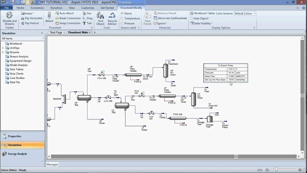 Plan Design Software Aspen Hysys Process Simulation Video Youtube