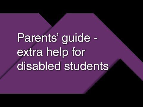 Parents' guide – extra help for disabled students 2017/18