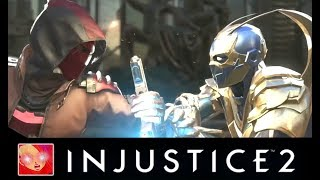 Injustice 2 - red hood vs blue beetle all intros clash/quotes