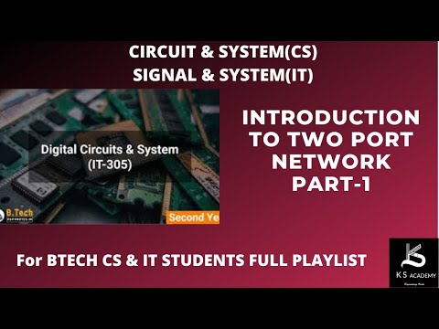 Introduction to Y Parameters with Problem - Two Port Network - Circuit Theory and Networksиз YouTube · Длительность: 19 мин41 с