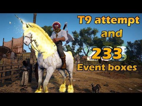 T9 Horse Attempt & 233 Box Opening - Black Desert Online