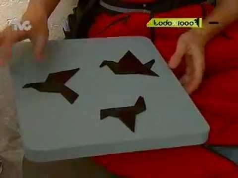 C mo hacer cuadros decorativos con origami txm youtube - Hacer cuadros decorativos ...