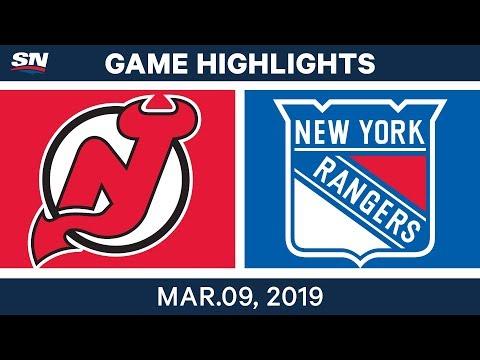 NHL Highlights   New Jersey Vs. New York – Mar 9, 2019