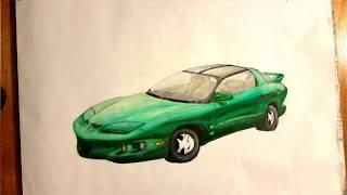 Pontiac Firebird Drawing