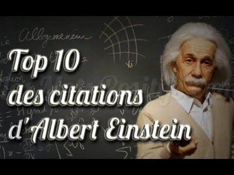 Albert Einstein Top 10 Des Citations