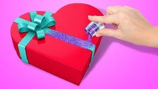 как сделать подарок девушке своими руками из бумаги
