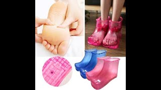 Women Foot Soak Bath Therapy Massage Shoes Sole Relaxation Home Feet Care Hot water