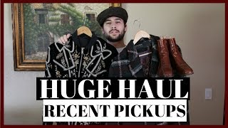 Huge Clothing Haul 2018 | Mens Fashion Haul and Try On - Vintage, Designer | Recent Pickups 2018