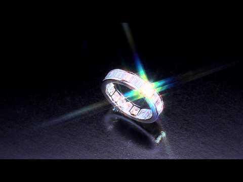 Baguette diamond anniversary band