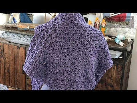 Crochet Openwork Shawl - YouTube