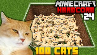 BREEDING MY CAT 100 TIMES in MINECRAFT HARDCORE (#24)