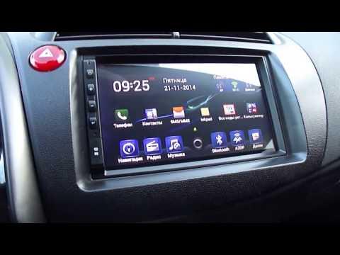 Магнитола Android и включение дисплея климата в Honda Civic 5D.