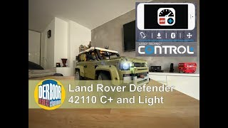Land Rover 42110 mit Control Plus und LED Light