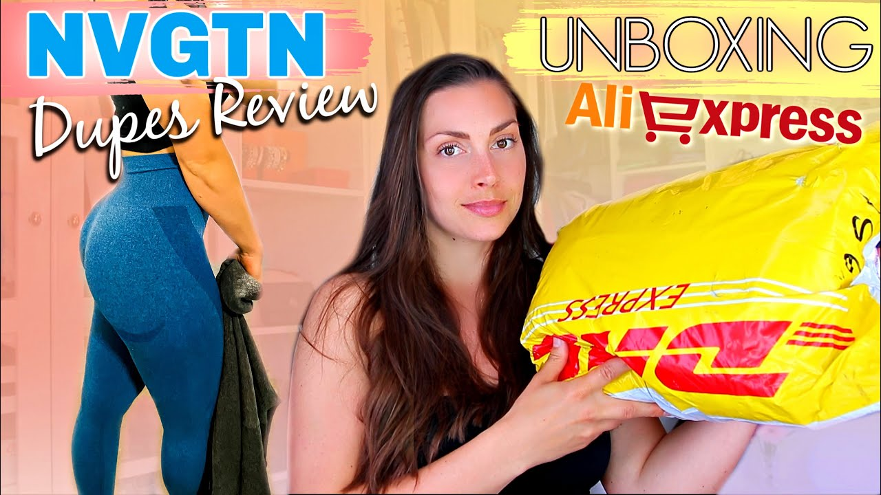 NVGTN Leggings Dupe & Unboxing ALIEXPRESS packages