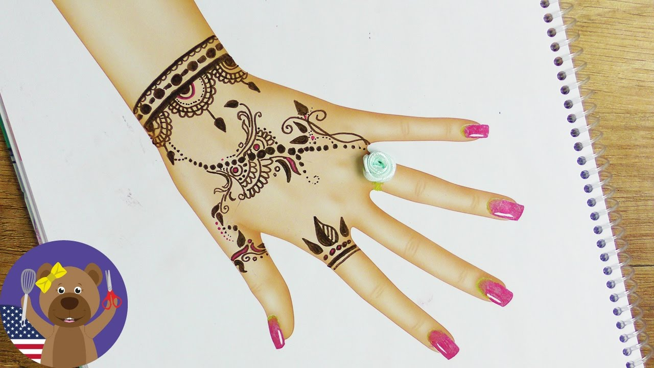 Henna Tattoo In Topmodel Drawing Book Beautiful Tattoo Rose Ring