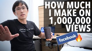 How much I make on 1,000,000 YouTube views (after getting fired from Facebook)