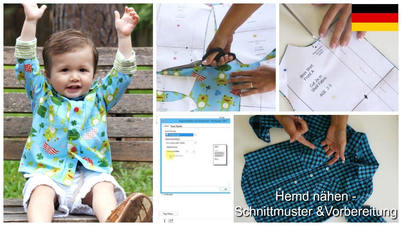 Hemd nähen für kleine Männer- Einführung zum Schnittmuster ...