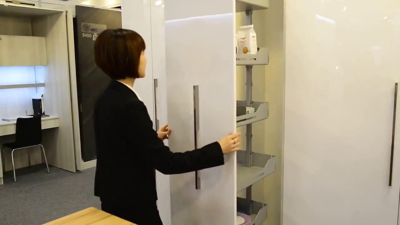 Despensa extraible giratoria para columna de cocina giratuti mueble herraje youtube - Mueble despensa cocina ...