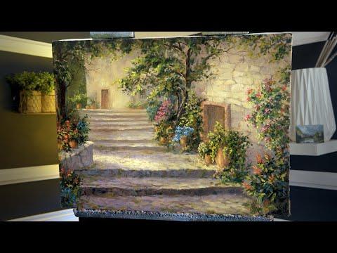 Italian Village Garden | Paint with Kevin ®