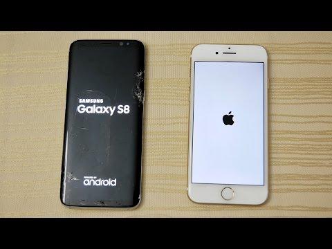 Galaxy S8 vs iPhone 7 - Speed Comparison! (4K)