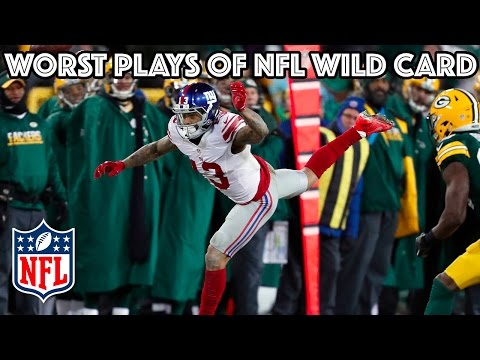 Worst Plays | NFL Wild Card Highlights