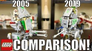 LEGO Star Wars Clone Scout Walker Comparison! 2005 vs 2019 | 7250 vs 75261