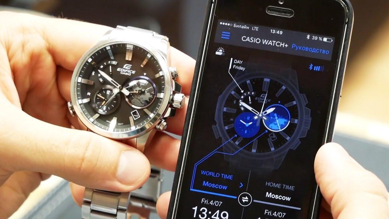 Быстрый обзор  2   умные часы Casio EQB-600 - YouTube adedab4a06c
