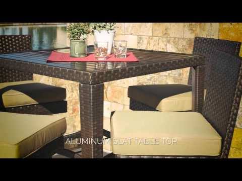 Madrid 5pc Bar Dining Set