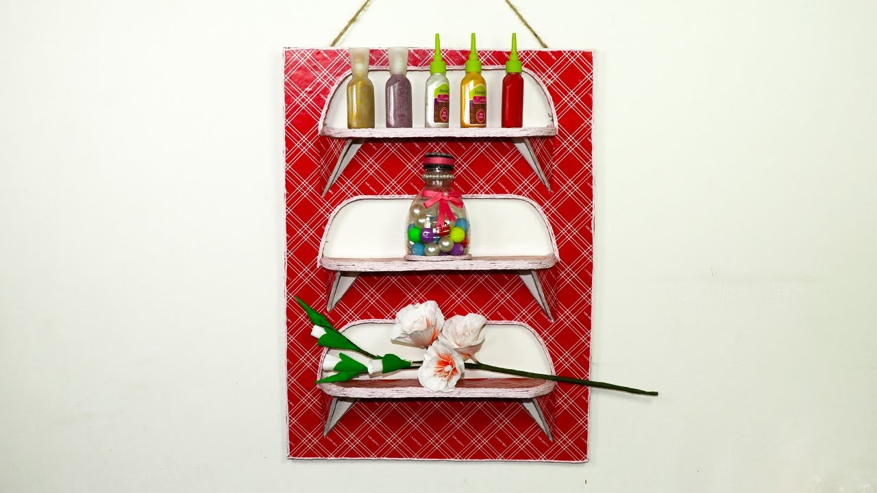 Mini Wall Organizer From Waste Cardboard
