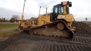 caterpillar d6n egaliseren zand