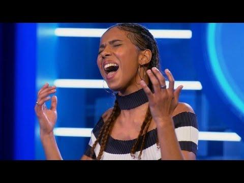 Alina schreeuwt 'Chandelier' voor de jury - IDOLS