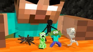 - Monster School Life MONSTERS BECOME TINY Minecraft Animation