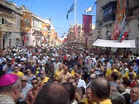 Zabbar Festa tal Madonna tal Grazzja Pellegrinaġġ Muturi u Roti bis sehem tal Arċisqof Pawlu Cremona l Ħadd 11 ta' Settembru 2011  malcolm schembri zabbar malta part 3