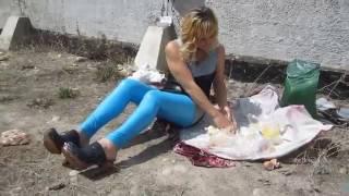 Natalia   Sahne Fleisch und Crush in Clogs cream and meat   messy and crush   046
