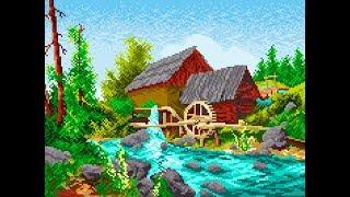 ✅Water mill design for cross stitch _ تصمیم طاحونة مياه للتطریز یدوی _ Diseño de molino de agua