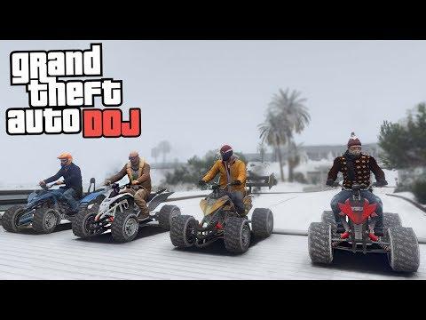 GTA 5 Roleplay - DOJ 3 - WINTER ATV RACING