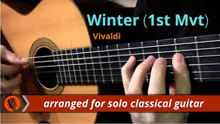 The Four Seasons, Winter, 1st mvt, A.Vivaldi (solo classical g…