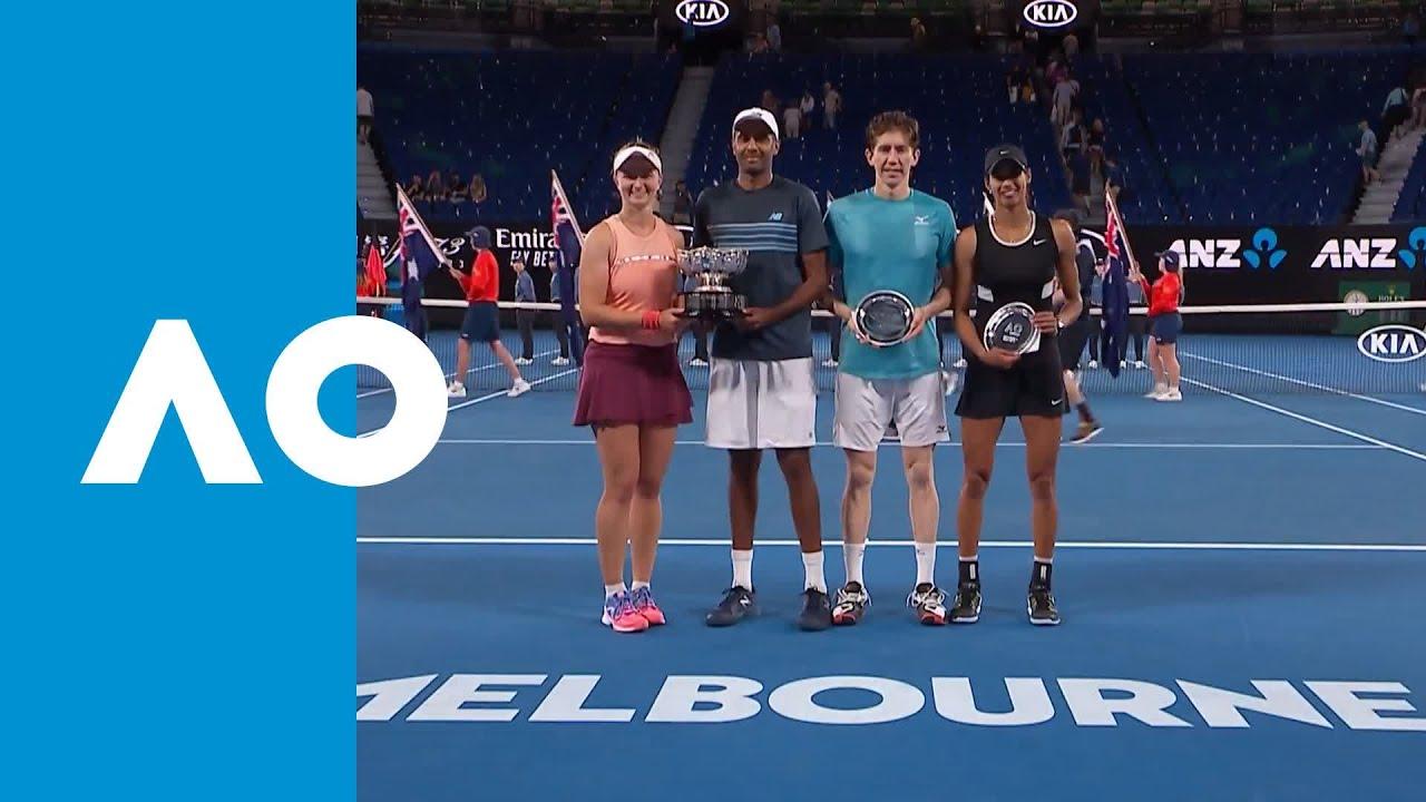 Mixed Doubles Trophy Presentation F Australian Open 2019 Youtube