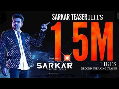 SARKAR Teaser World Record - Thalapathy 63 Update | Thalapathy Vijay, Nayanthara | Atlee | AR Rahman