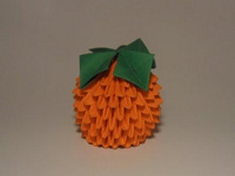 Оригами апельсин схема