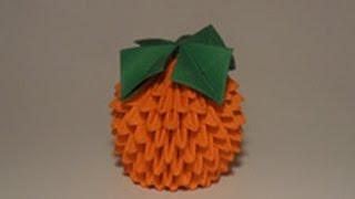 Модульное оригами фрукты и овощи.№7 Апельсин